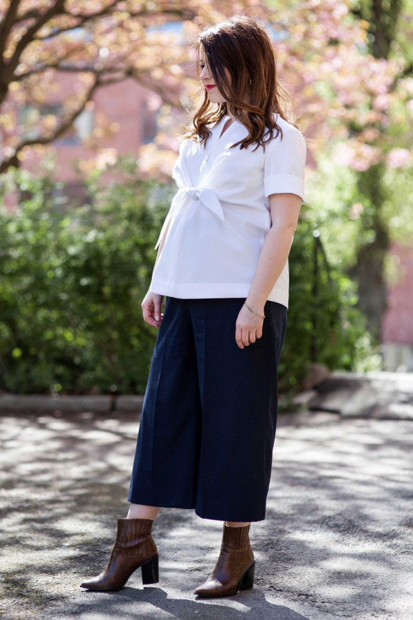 Maternity knot top — Note to self